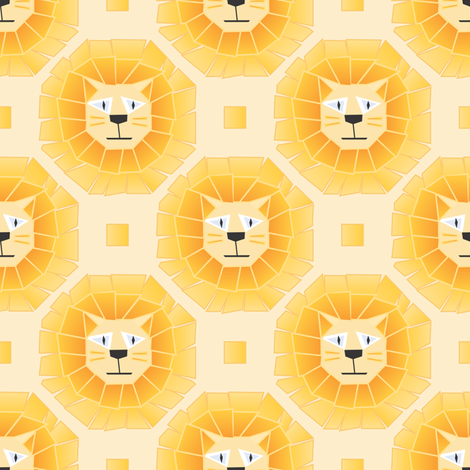 Lions fabric by karapeters on Spoonflower - custom fabric