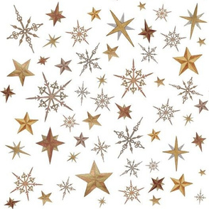 Steampunk Stars on white