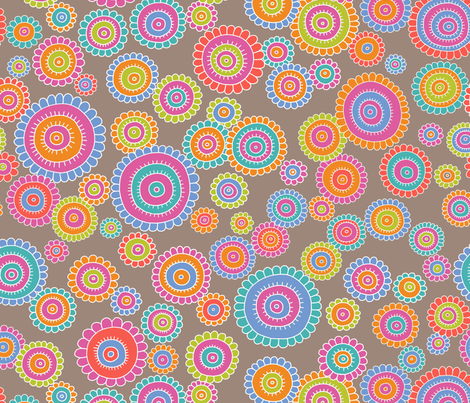 tribalFlower fabric by thelazygiraffe on Spoonflower - custom fabric