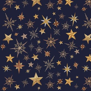 Steampunk Stars - Blue