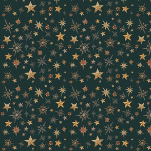 Steampunk Stars - green