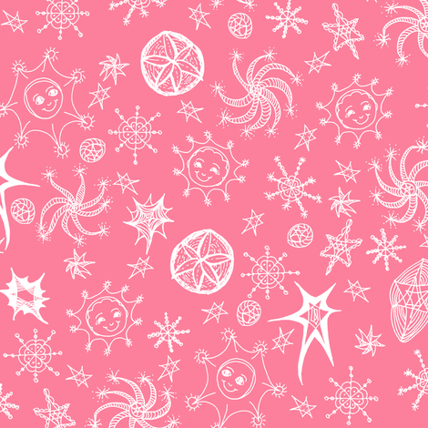 Colourful Celestials - Strawberry Frosting fabric by rhondadesigns on Spoonflower - custom fabric