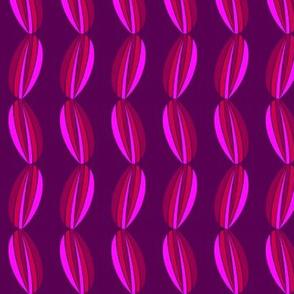 Graphic purple tulip