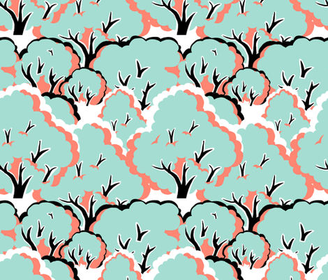 blossoming fabric by woodledoo on Spoonflower - custom fabric