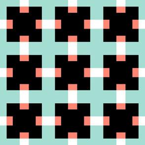 Retro New Mexico ~  Taped Blocks