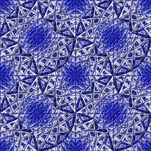 Geometric Star Metallic Blue