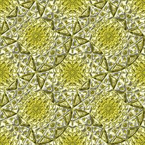 Geometric Star Metallic Yellow