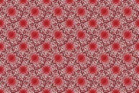 Geometric Star Metallic Red fabric by stradling_designs on Spoonflower - custom fabric
