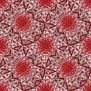 Geometric Star Metallic Red