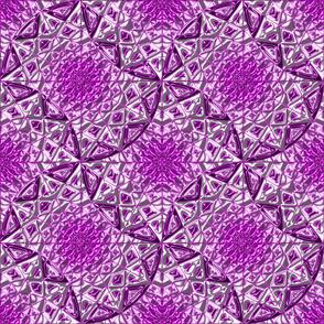 Geometric Star Metallic Purrple
