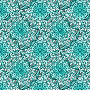 Geometric Star Metallic Turquoise