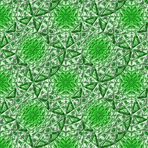 Geometric Star Metallic Green