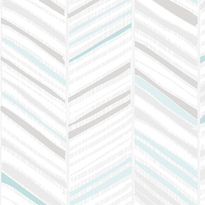 Herringbone Hues of M+M Aqua by Friztin