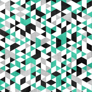Geometric Background Green