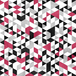 Geometric Background Red