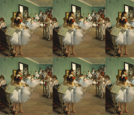 Degas Dance  fabric by lapittrice13 on Spoonflower - custom fabric
