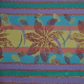 Tropical floral/stripe