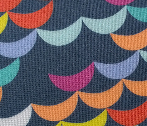 Pixie Moons* (Jackie Blue) || crescent glitter sparkle stitch knitting embroidery wave scales geometric abstract