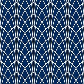 Arcada - Modern Geometric Navy Blue
