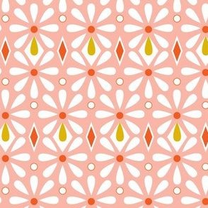 Fleurette Radiant Floral Geometric - Pink