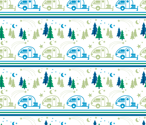 Tab Camping in the Trees fabric by threemoonsstudio on Spoonflower - custom fabric