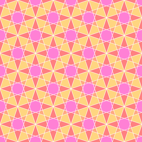 03997703 : rhombus 3 cross : hot southern star fabric by sef on Spoonflower - custom fabric