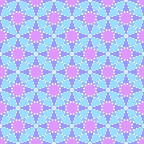 03997704 : rhombus 3 cross : icy northern star fabric by sef on Spoonflower - custom fabric
