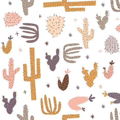 cactus fabric by laurawrightstudio on Spoonflower - custom fabric