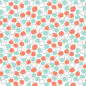 geometric blobs - coral