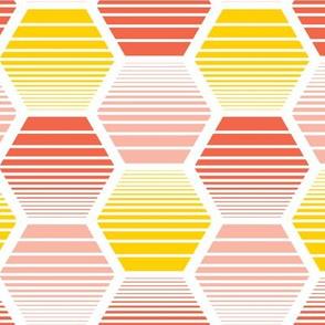 Honey Jive - Retro Geometric Pink Large Scale