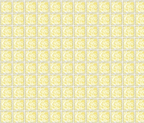 SWIRL_jaune fabric by aliceandcodesigns on Spoonflower - custom fabric