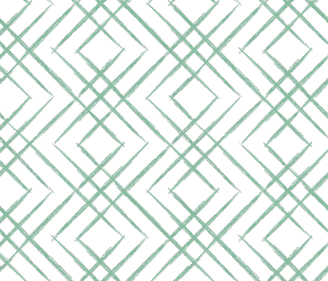 Brushed Fret, Jade fabric by kateriley on Spoonflower - custom fabric