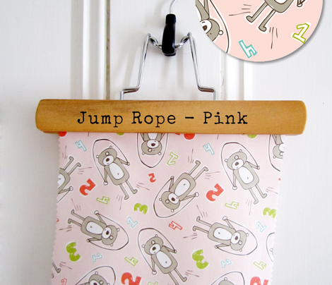 Jump Rope - Nursery Bears & Numbers Pink