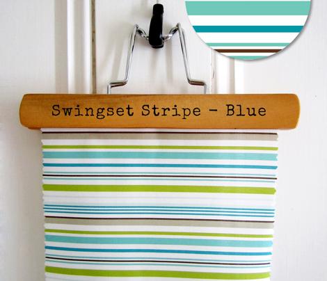Swingset Stripe - Blue