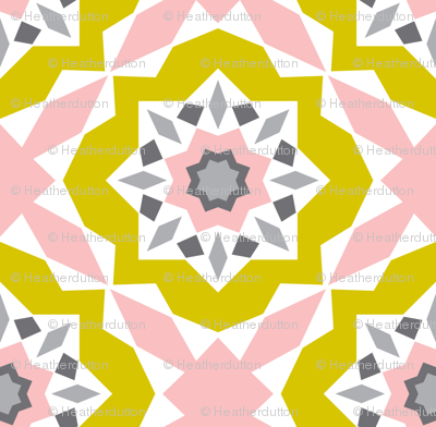 Mattonelle - Moroccan Geometric - Pink & yellow