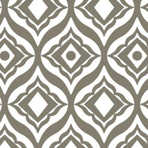 Trevino - Geometric Taupe Large Scale