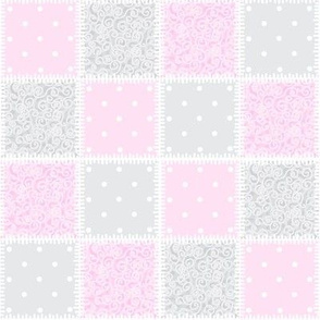 Baby Pink swirly patchwork