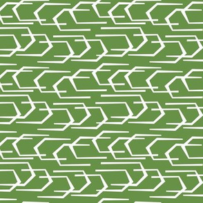 Going Places - Modern Abstract Geometric Green