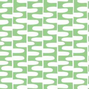 Hopscotch - Modern Geometric Green