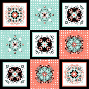 coral_mint_white_checker_board_4d