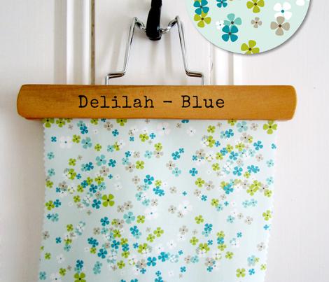 Delilah - Floral Blue