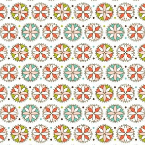 Cartwheel - Retro Floral Geometric Pink
