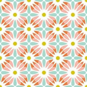 Crazy Daisy - Retro Floral Geometric