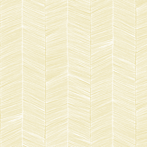 Herringbone - Golden Yellow fabric by papercanoefabricshop on Spoonflower - custom fabric