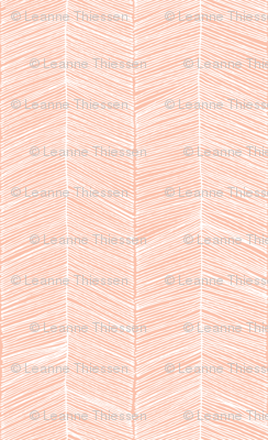 Herringbone - Peach