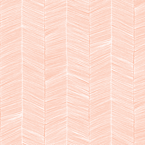 Herringbone - Peach fabric by papercanoefabricshop on Spoonflower - custom fabric