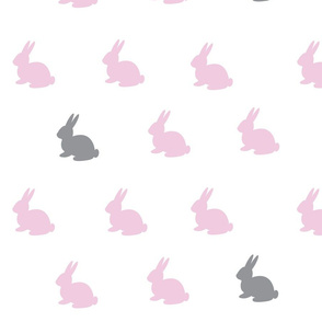 Pink and Grey Bunnies