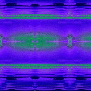 Mirror Image in Purple Green Blue