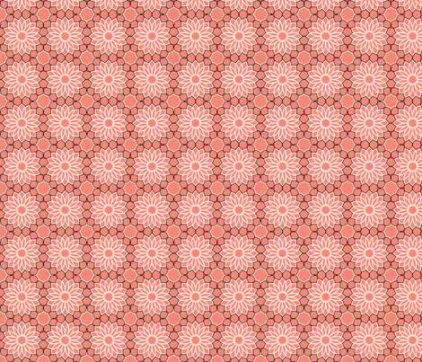 Rock Daisies Coral fabric by inscribed_here on Spoonflower - custom fabric