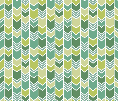 Emerald Chevron fabric by studio_amelie on Spoonflower - custom fabric